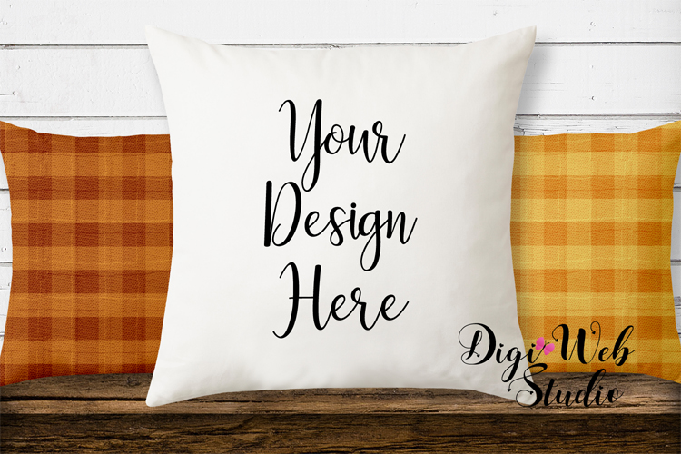 Mockup Bundle - Fall Country Wood Signs, Pillow & Coffee Cup example image 6