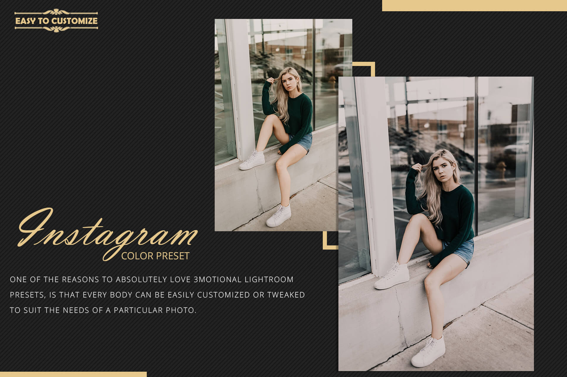 Instagram color grading lightroom presets theme example image 10