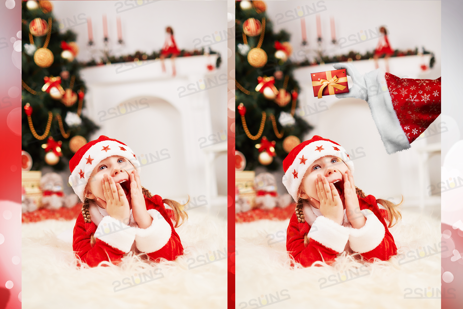 Christmas overlays Santa Claus Hand clipart png Photoshop example image 3