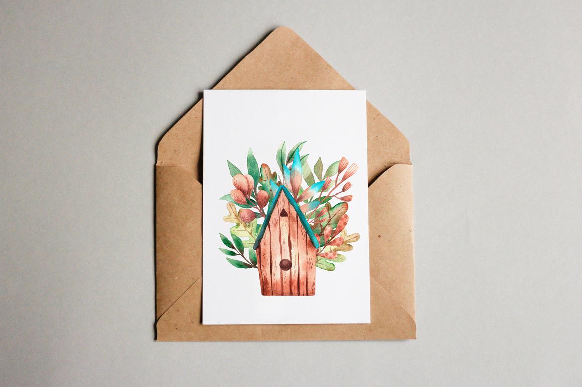 Tiny Birds - Watercolor Clip Art Set example image 11