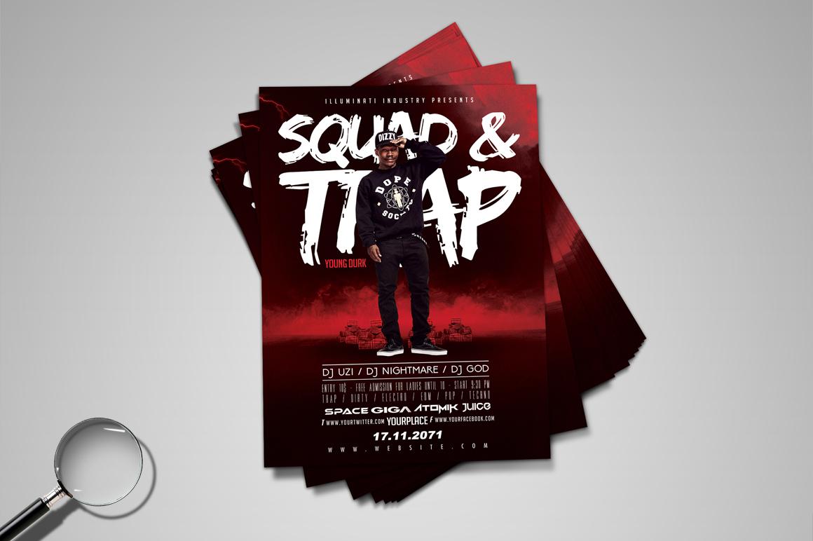Lades In Trap : Squad & trap urban flyer template