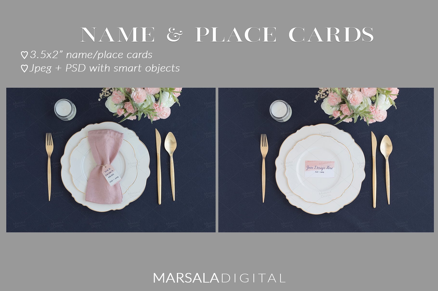 Blush and Navy Wedding Mockup Bundle example image 6