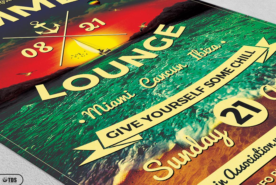 Summer Lounge Flyer Bundle example image 9