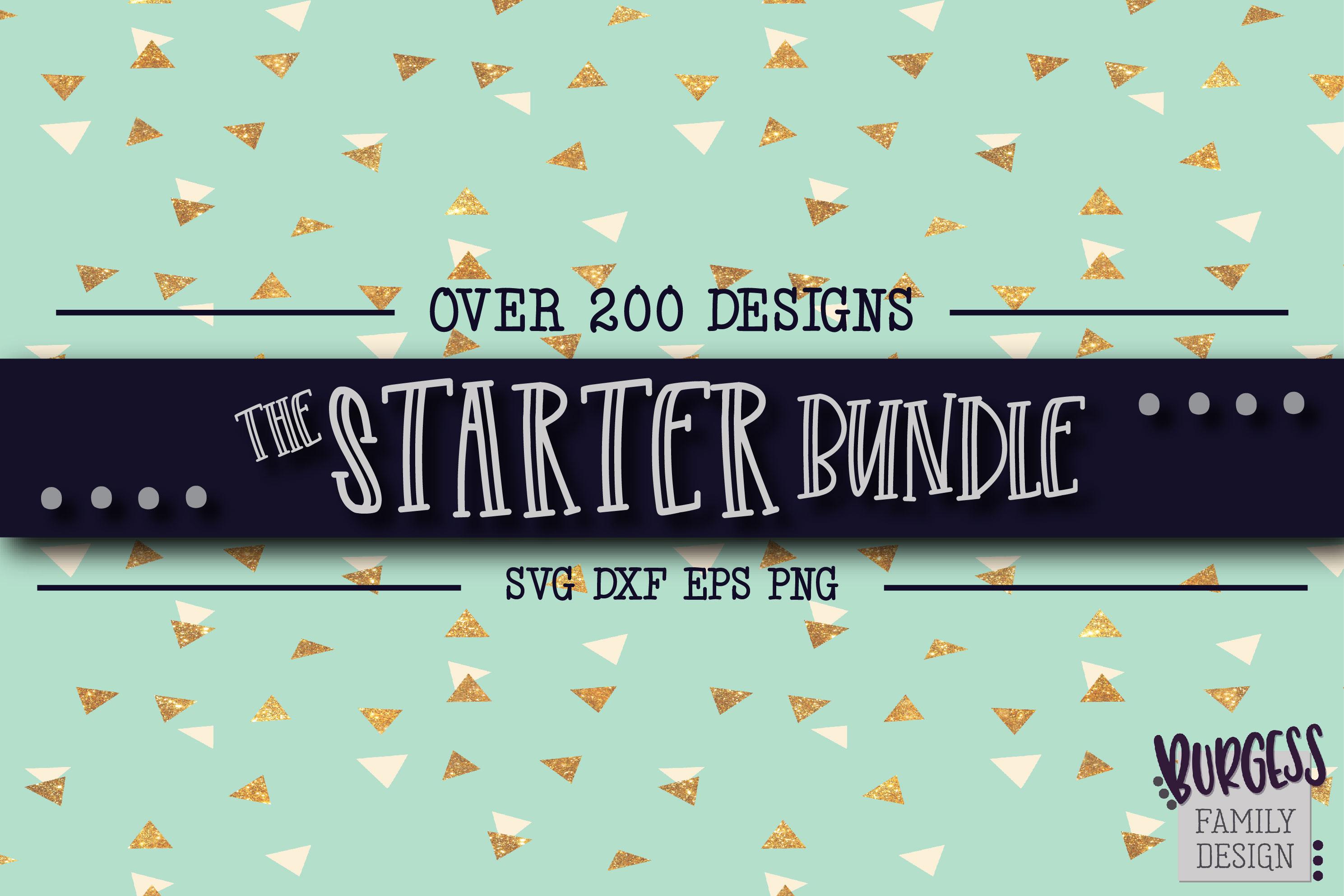 The starter bundle - Over 200 Designs | SVG DXF EPS PNG example image 1