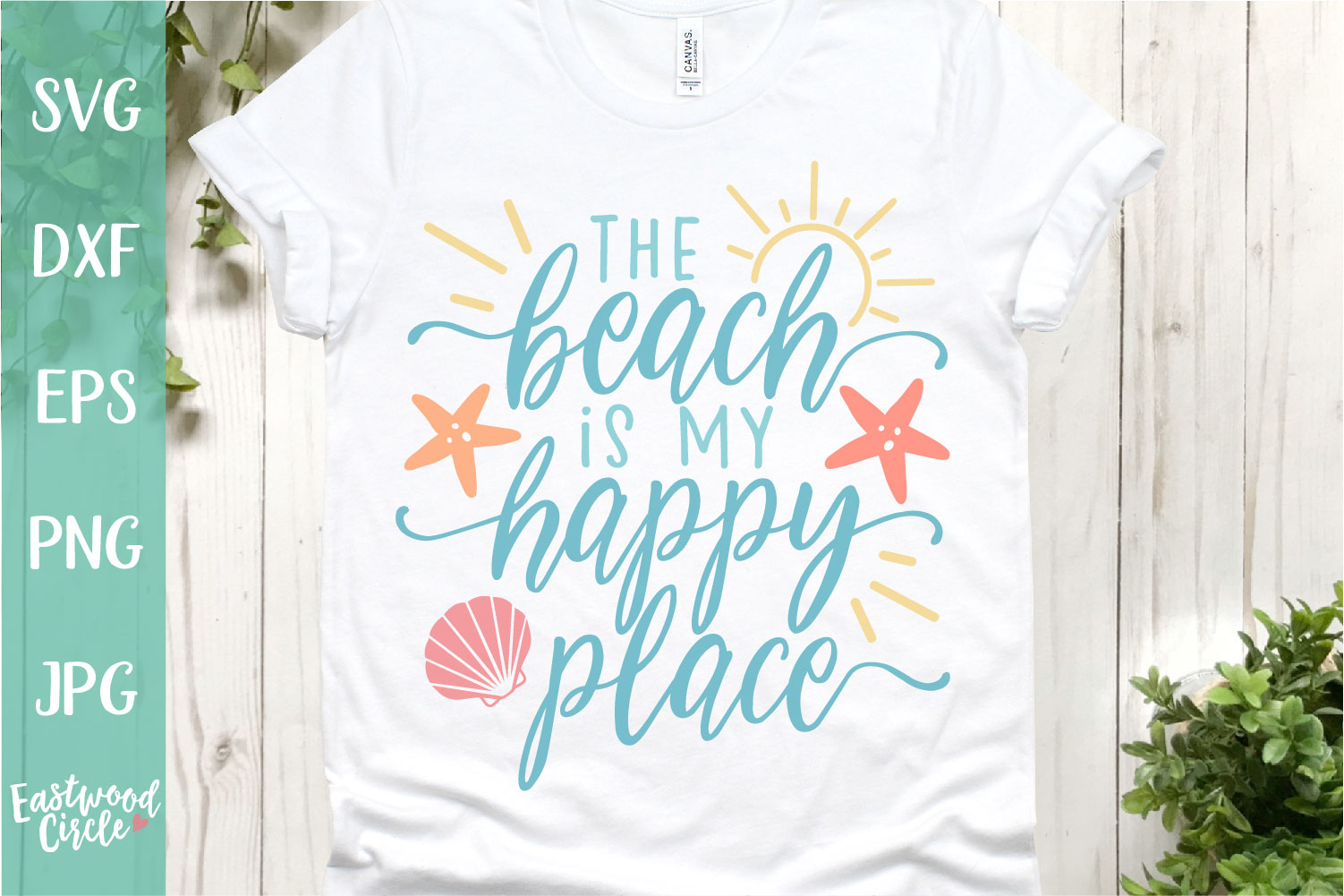 The Beach Is My Happy Place - A Beach SVG Cut File example image 1