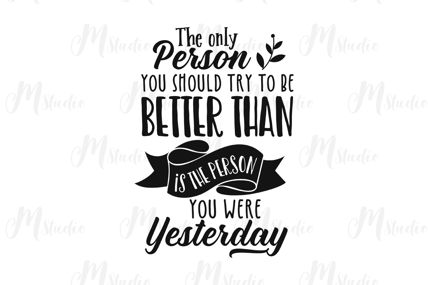 Inspirational Quotes svg Bundle example image 14