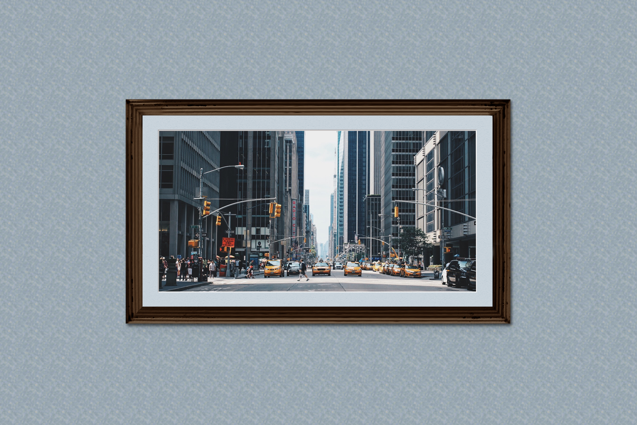 Horizontal Frame Mockup, Photoshop Smart Object, PSD example image 2