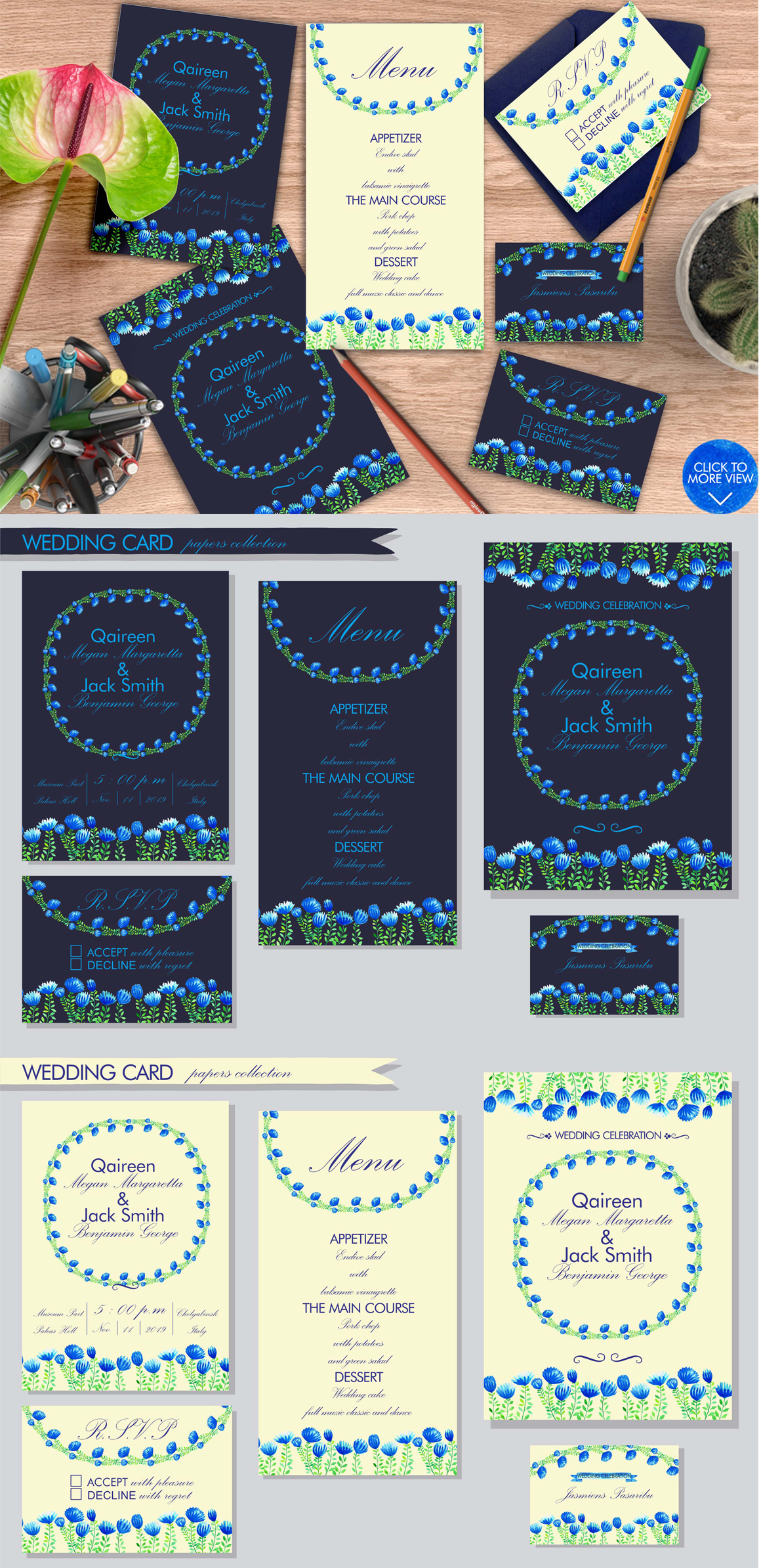 Simple Blue Floral example image 10