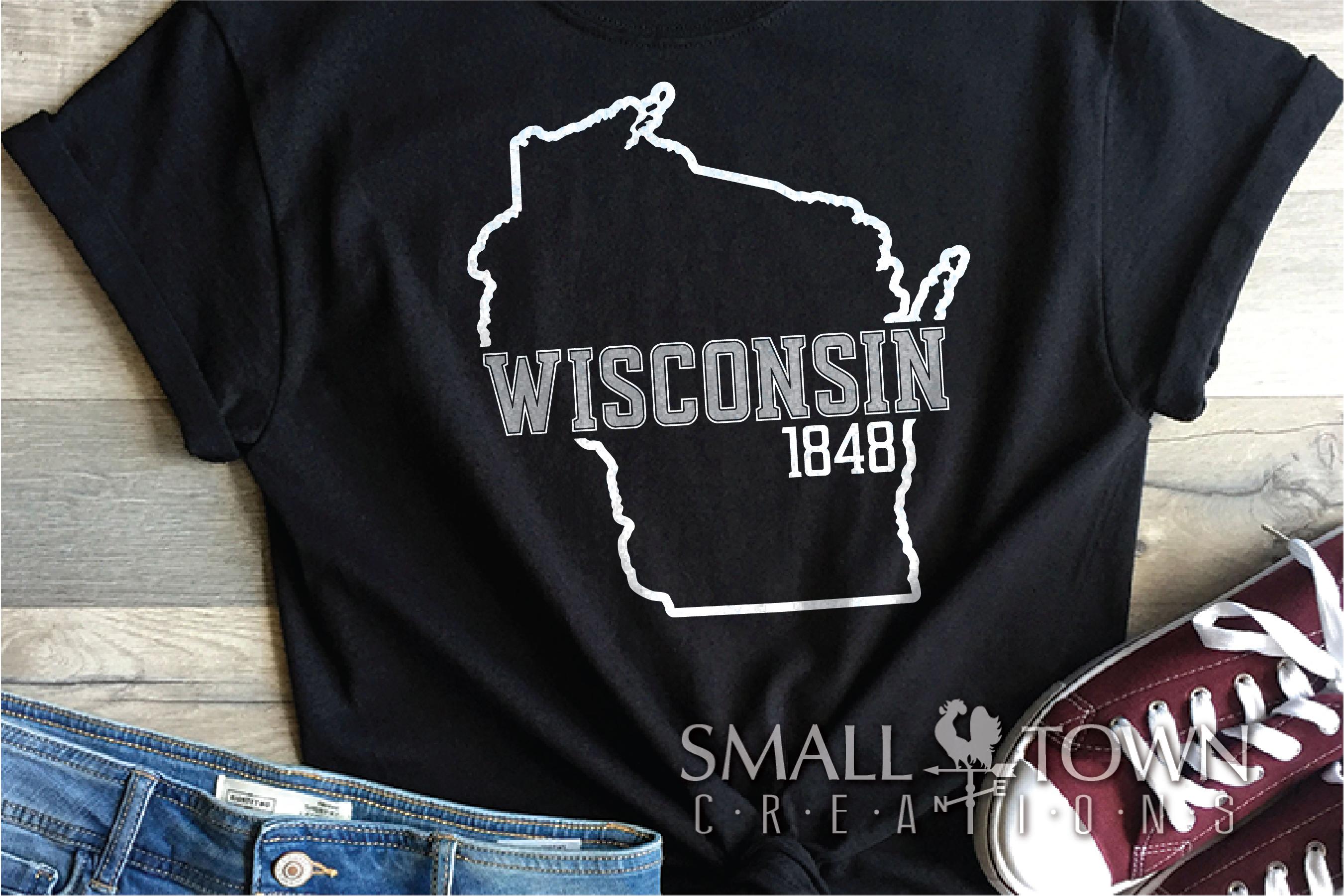Wisconsin, America's Dairyland, Logo, PRINT, CUT & DESIGN example image 8