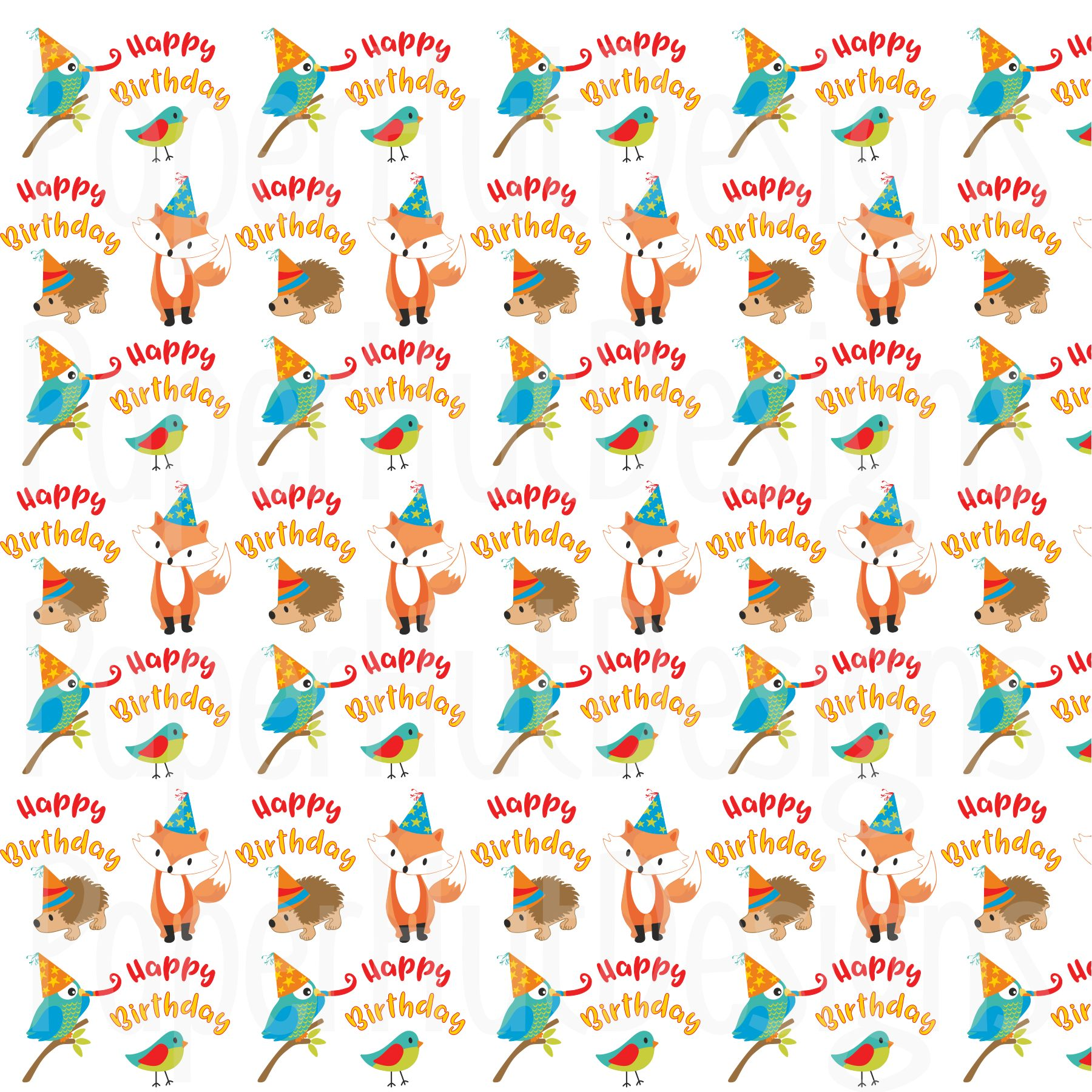 Birthday Clipart and Digital Papers Bundle example image 4