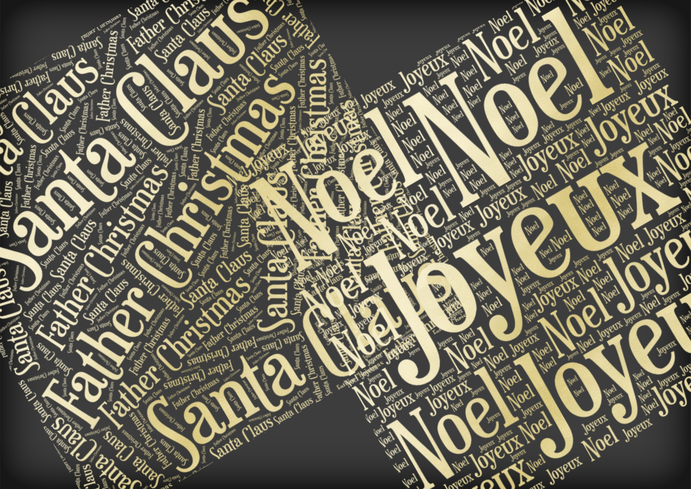 Christmas Soft Gold Word Overlays example image 5