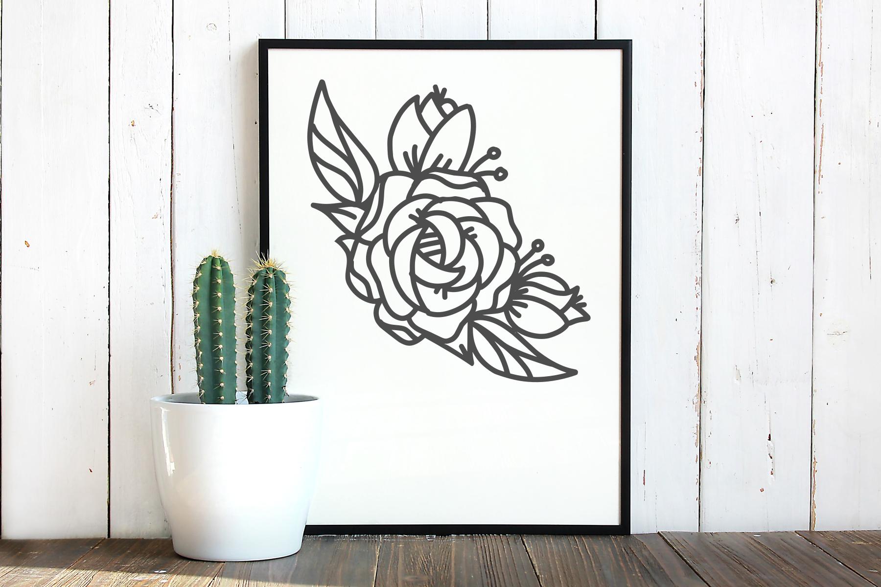 Flower svg, single rose, instant download, cut file example image 2
