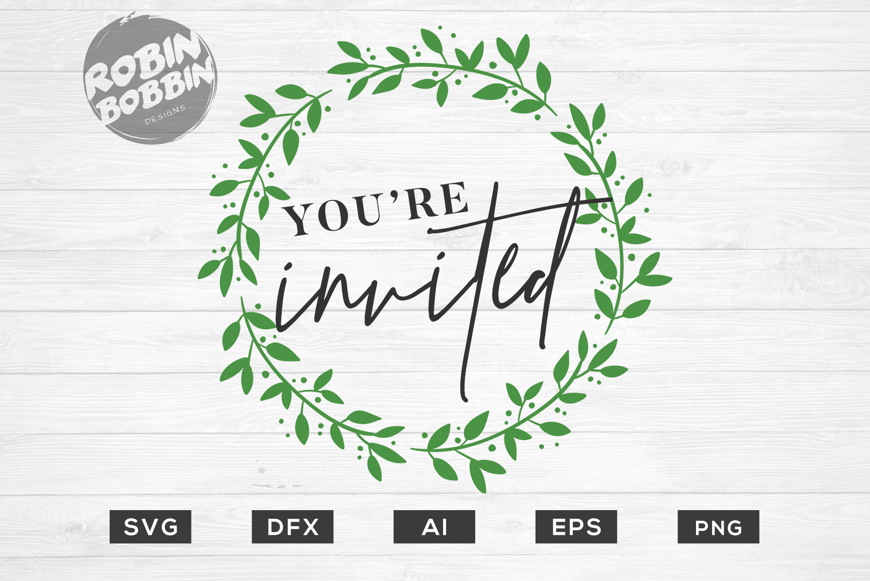 You're Invited SVG File - Wedding SVG PNG EPS Cutting Files example image 1