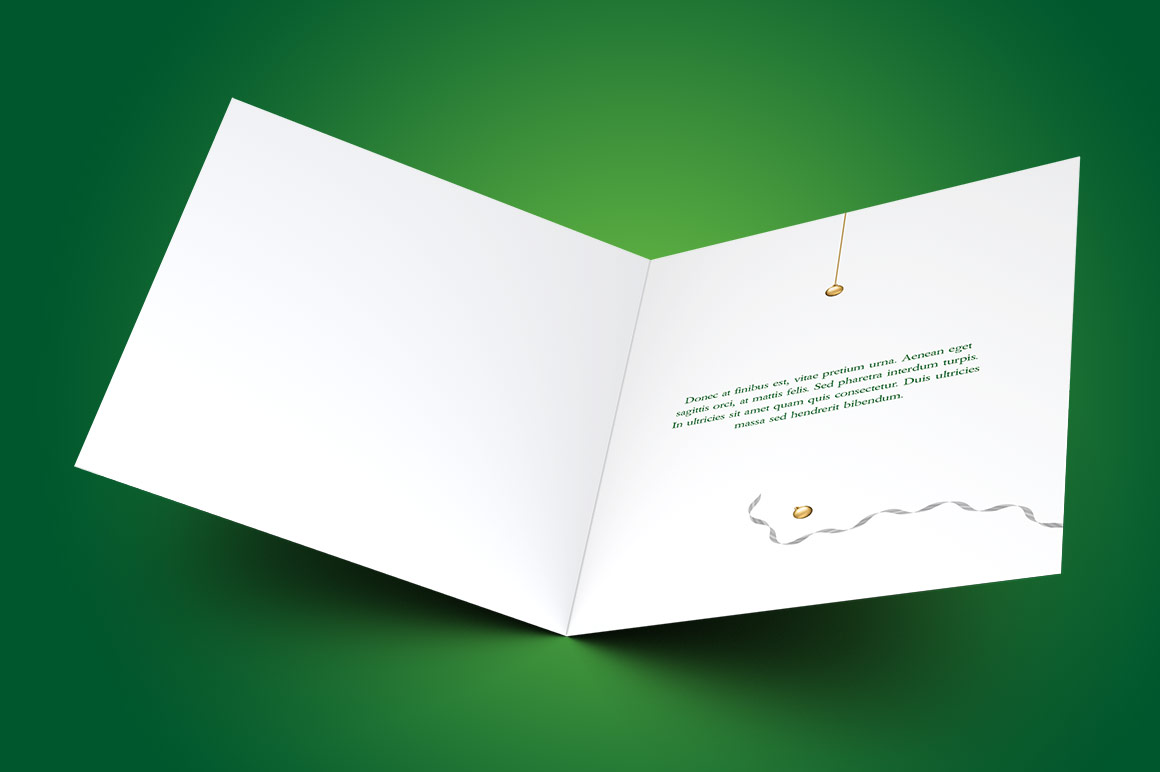 Green Christmas Greeting Card Template example image 2