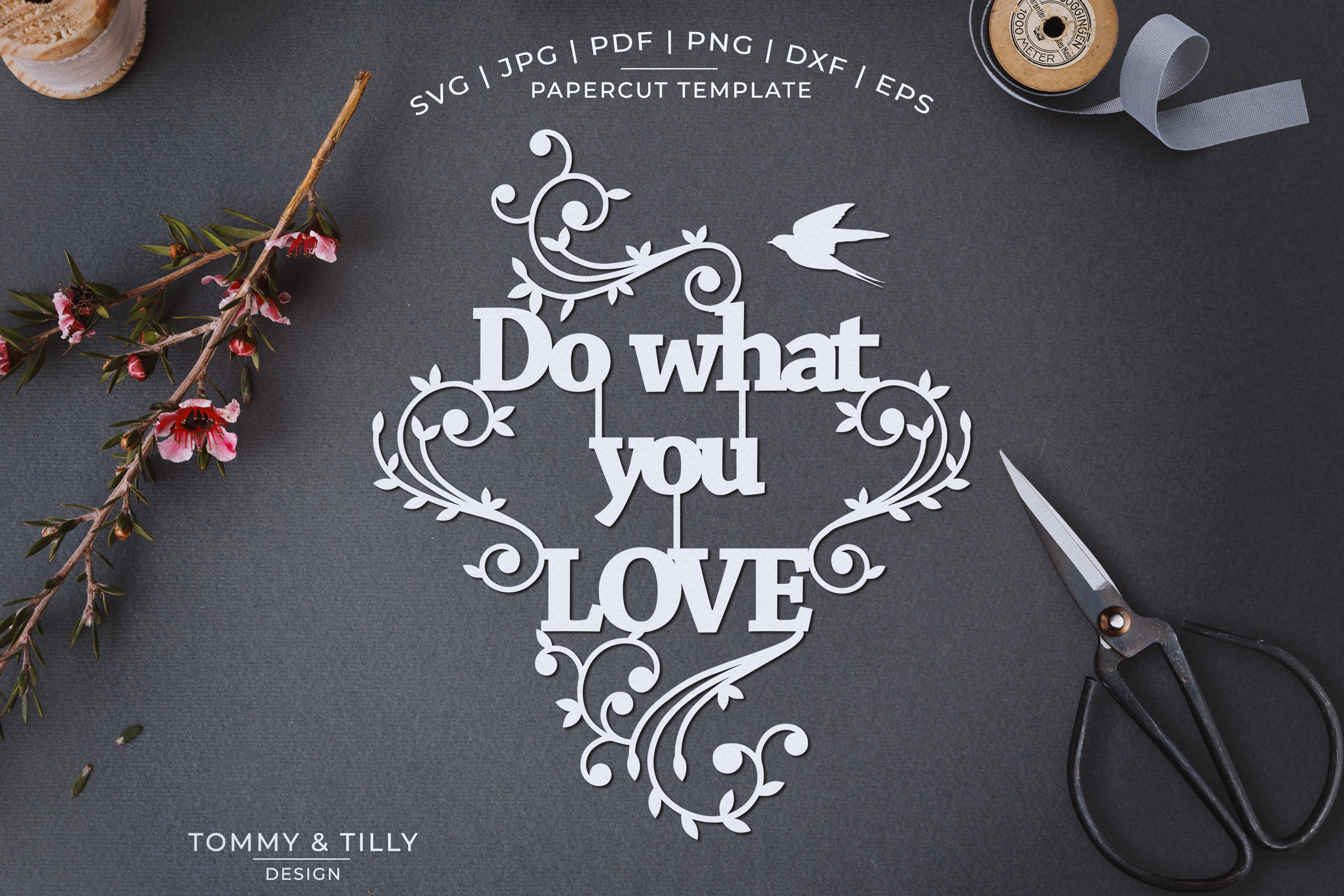 Do what you love - Papercut SVG EPS DXF PNG PDF example image 1