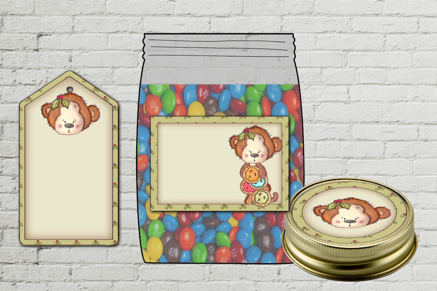 Monkey Jar Kit - labels and tag example image 2