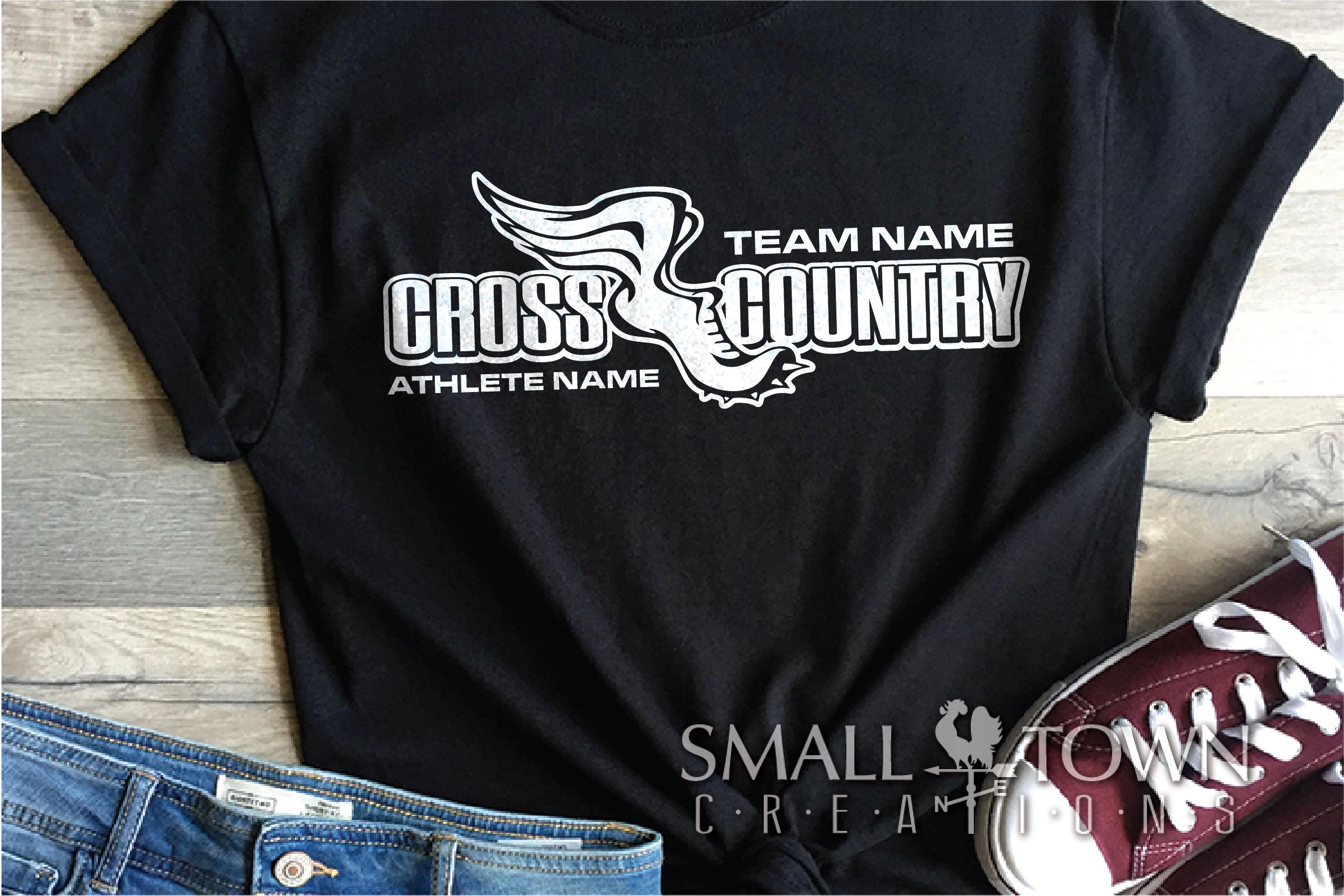 Cross Country, Team, Sports, Logo, PRINT, CUT & DESIGN example image 1