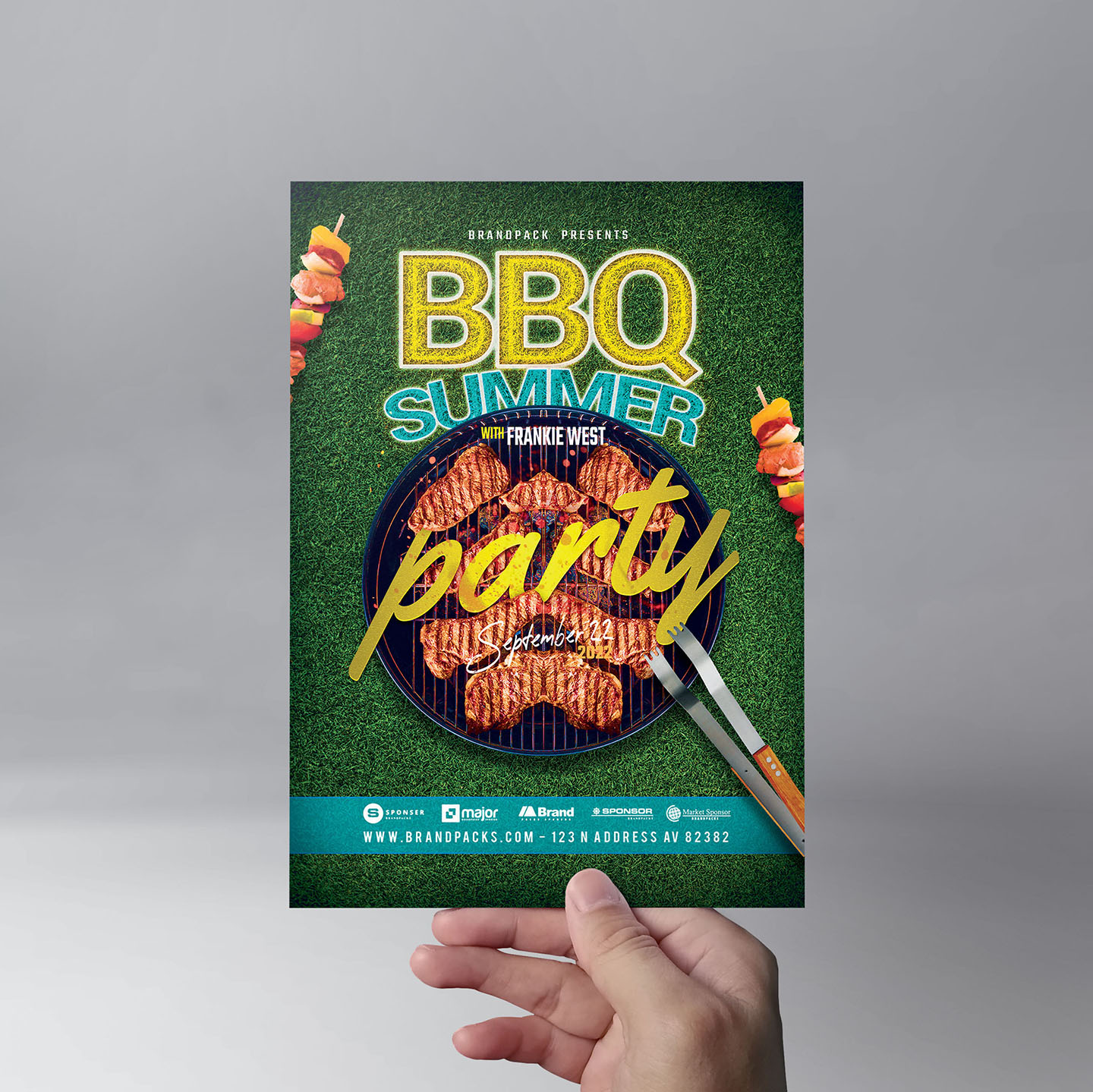 BBQ Cookout Flyer Template example image 9