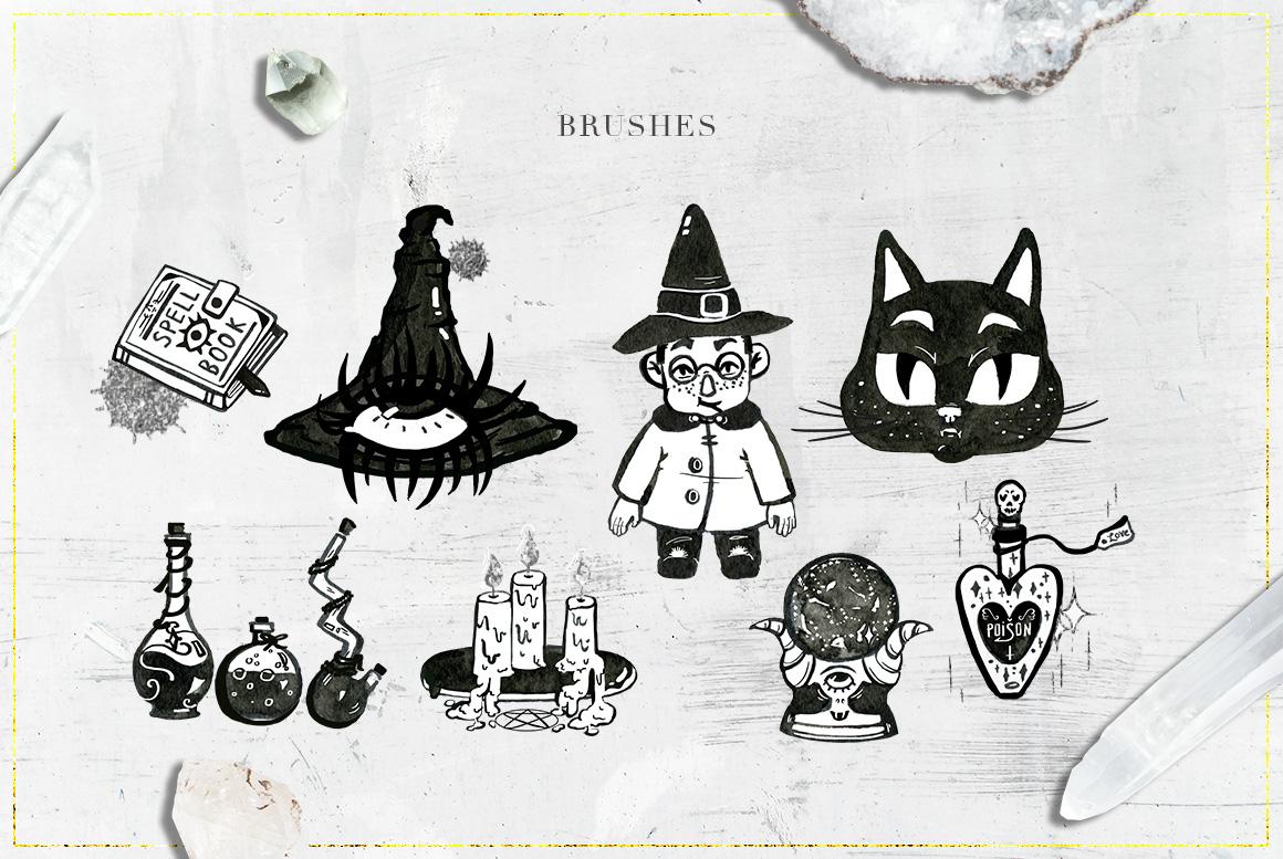 75 Witchcraft Photoshop Brushes example image 5