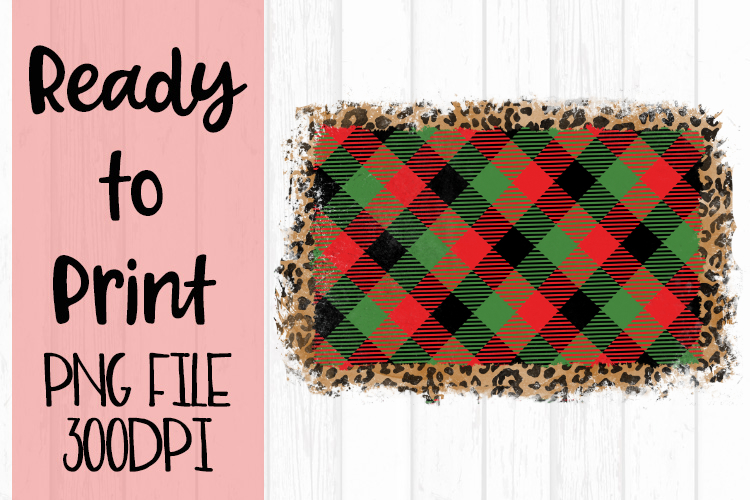 Plaid and Leopard Monogram Frame Ready to Print example image 1