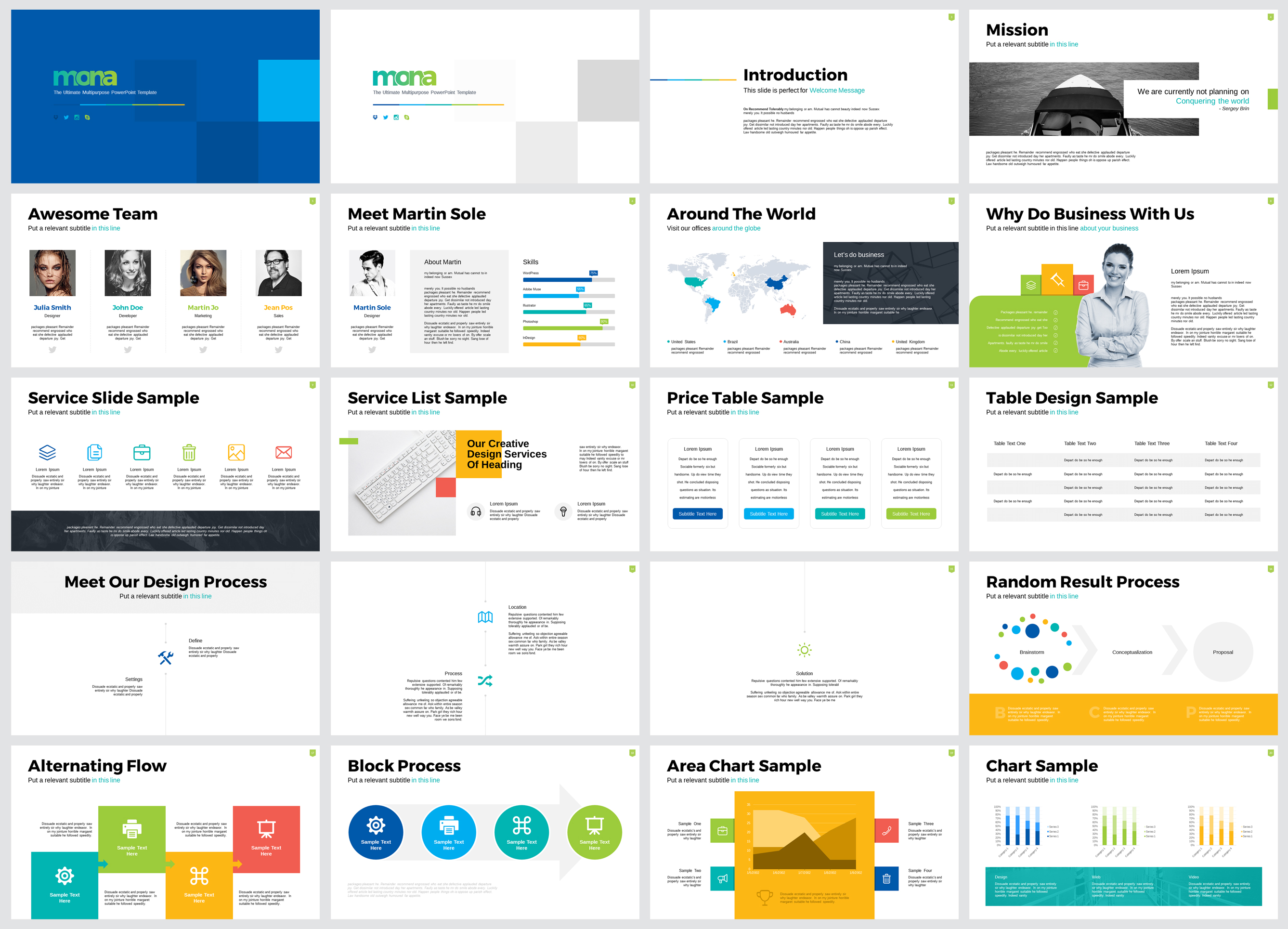 Mona Ultimate Multipurpose PowerPoint Template example image 2
