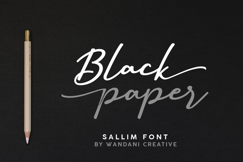 Sallim   Signature Font example image 7