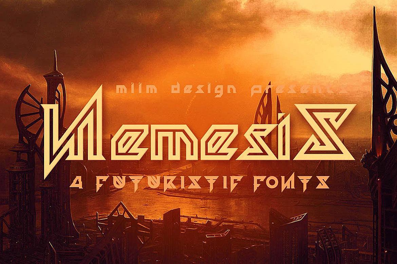 Nemesis - Futuristic Font example image 1
