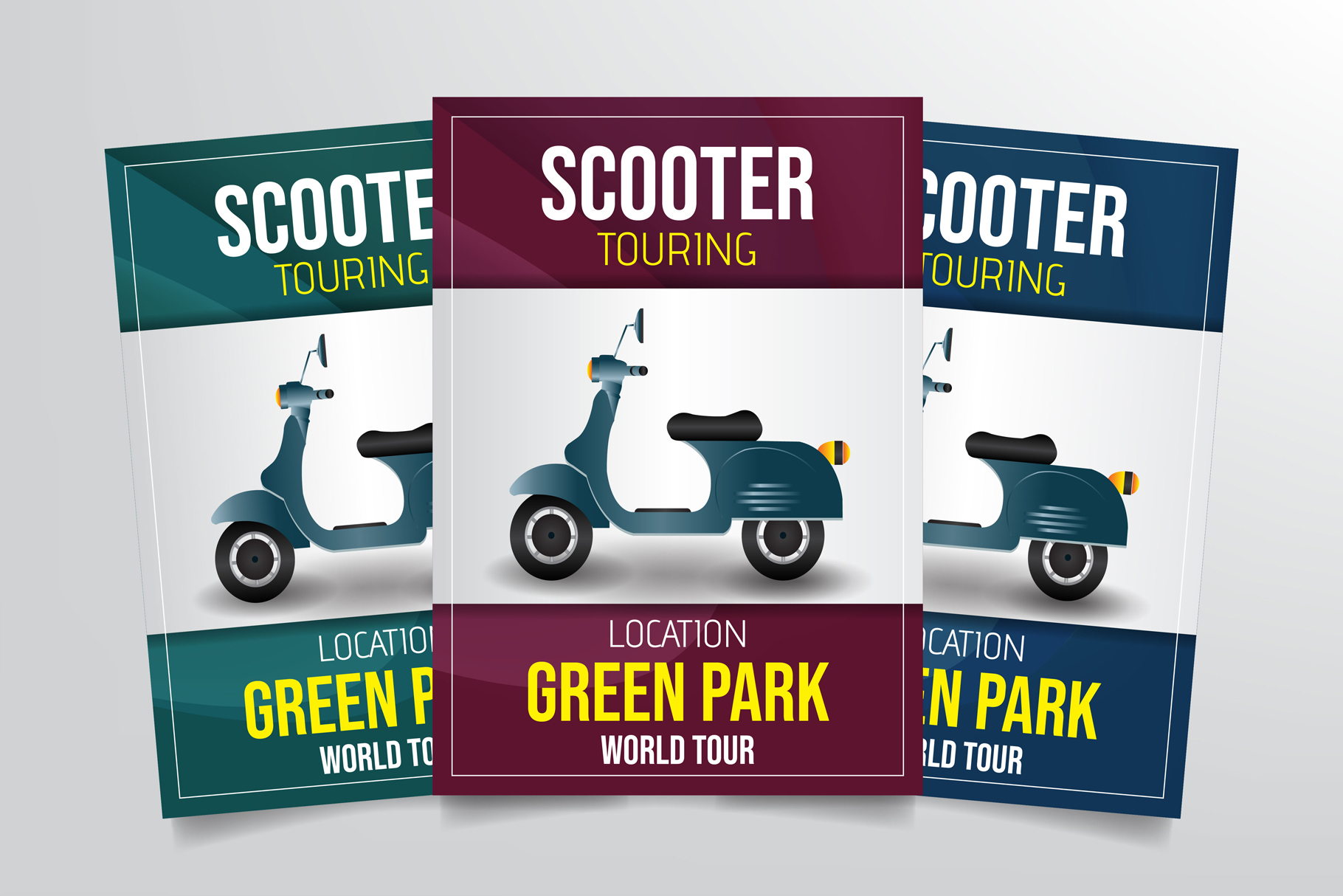 Scooter Touring Flyer Template example image 1