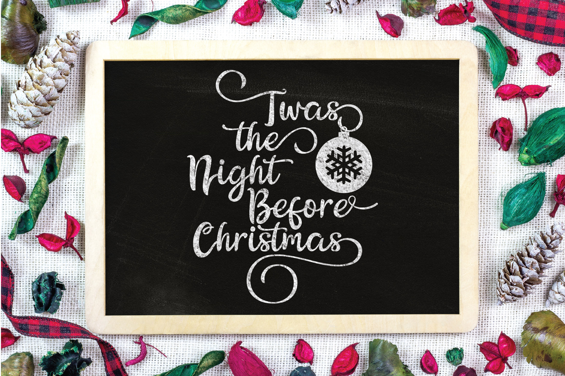 Christmas SVG Cut File - The Night Before Christmas SVG DXF example image 4