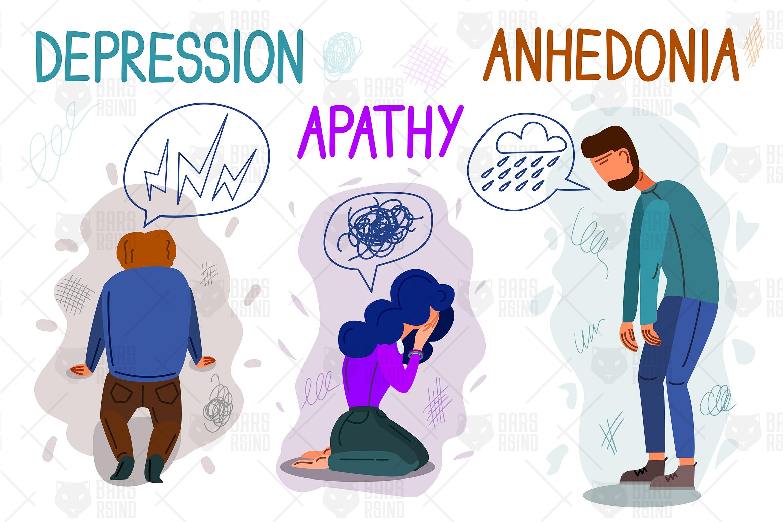 Psychological Health Problems Illustration example image 1