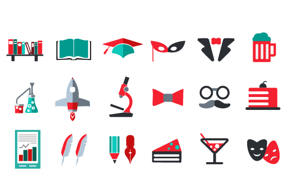 Flat icons vector set example image 2