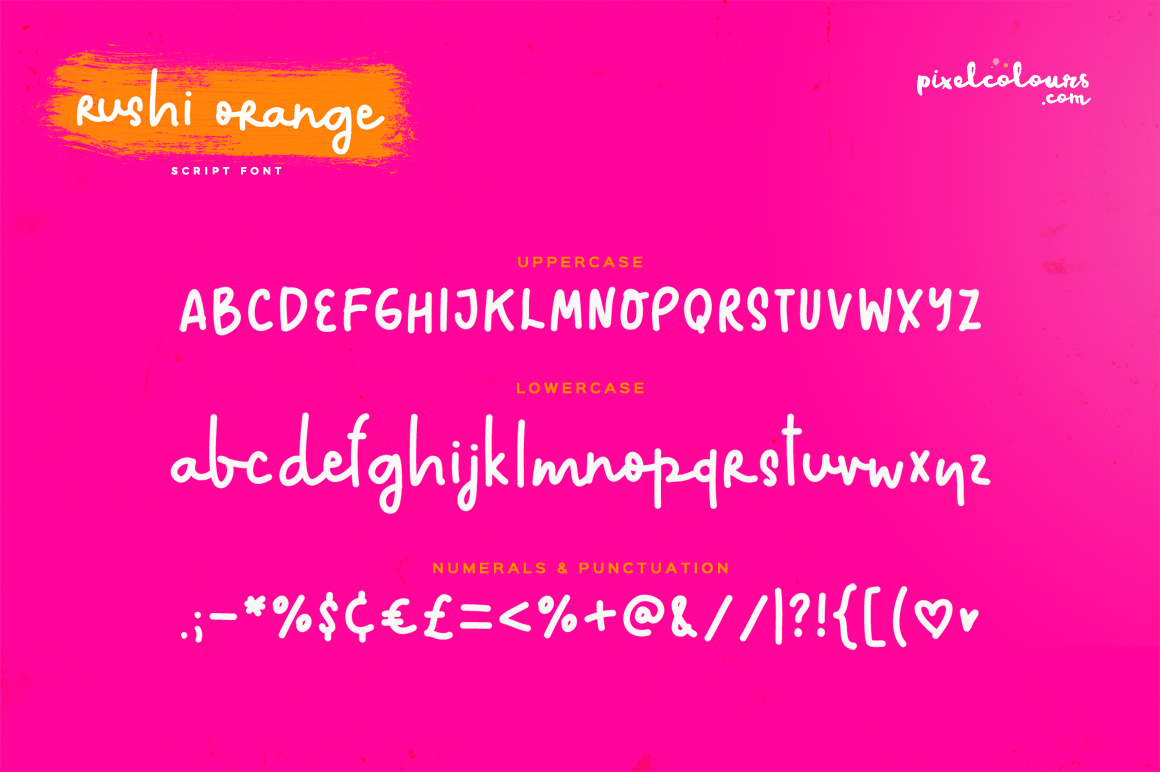 Rushi Orange Font example image 3