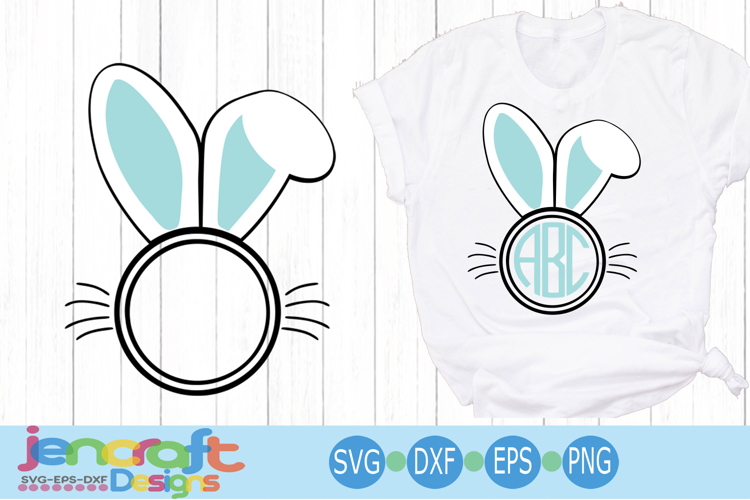 Easter Bunny Ear svg Bunny frame svg, eps, dxf example image 4
