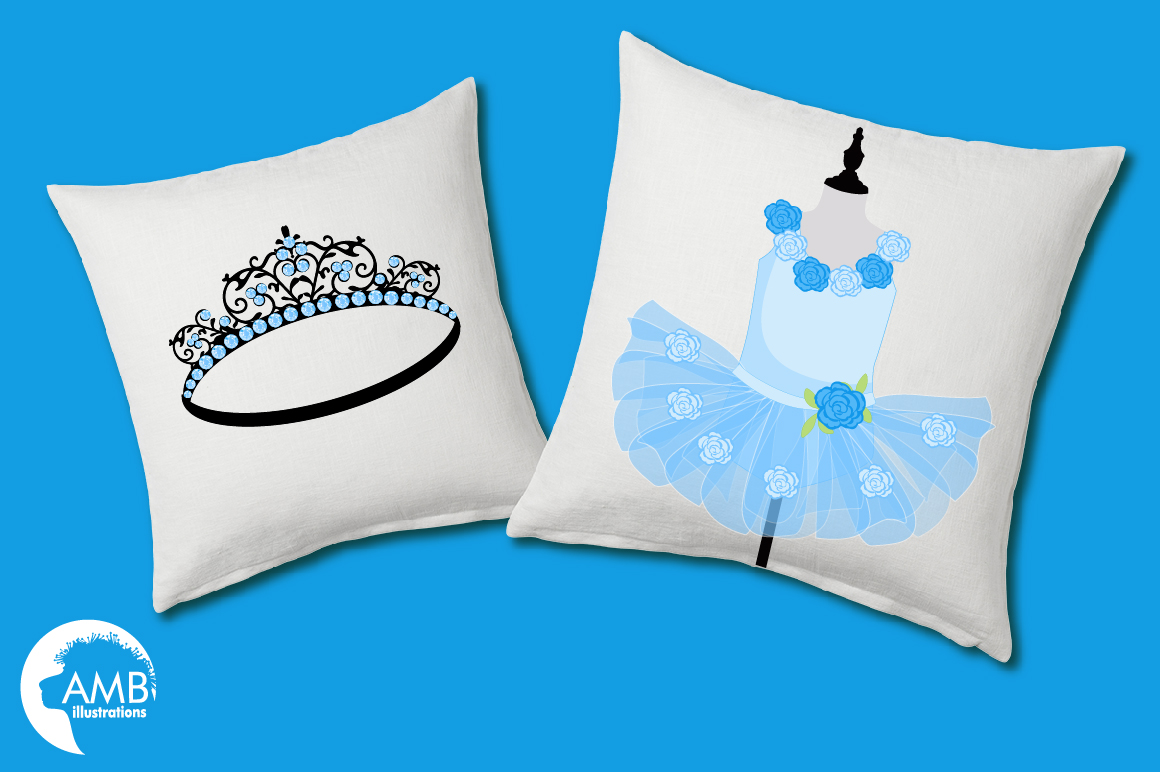 Ballerina Tutus in blue clipart, graphics and illustrations AMB-1319 example image 3