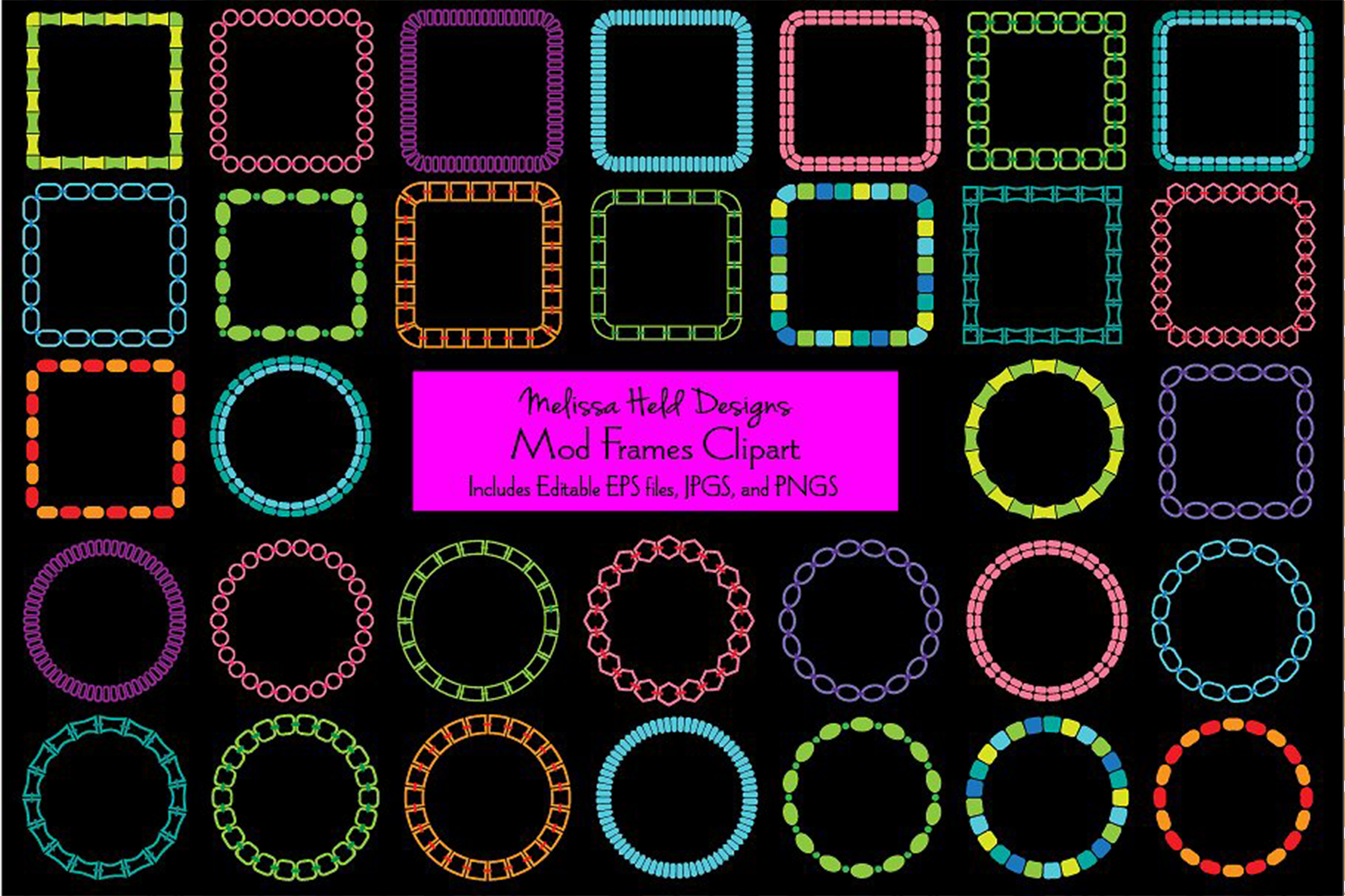 Mod Frames Clipart example image 1