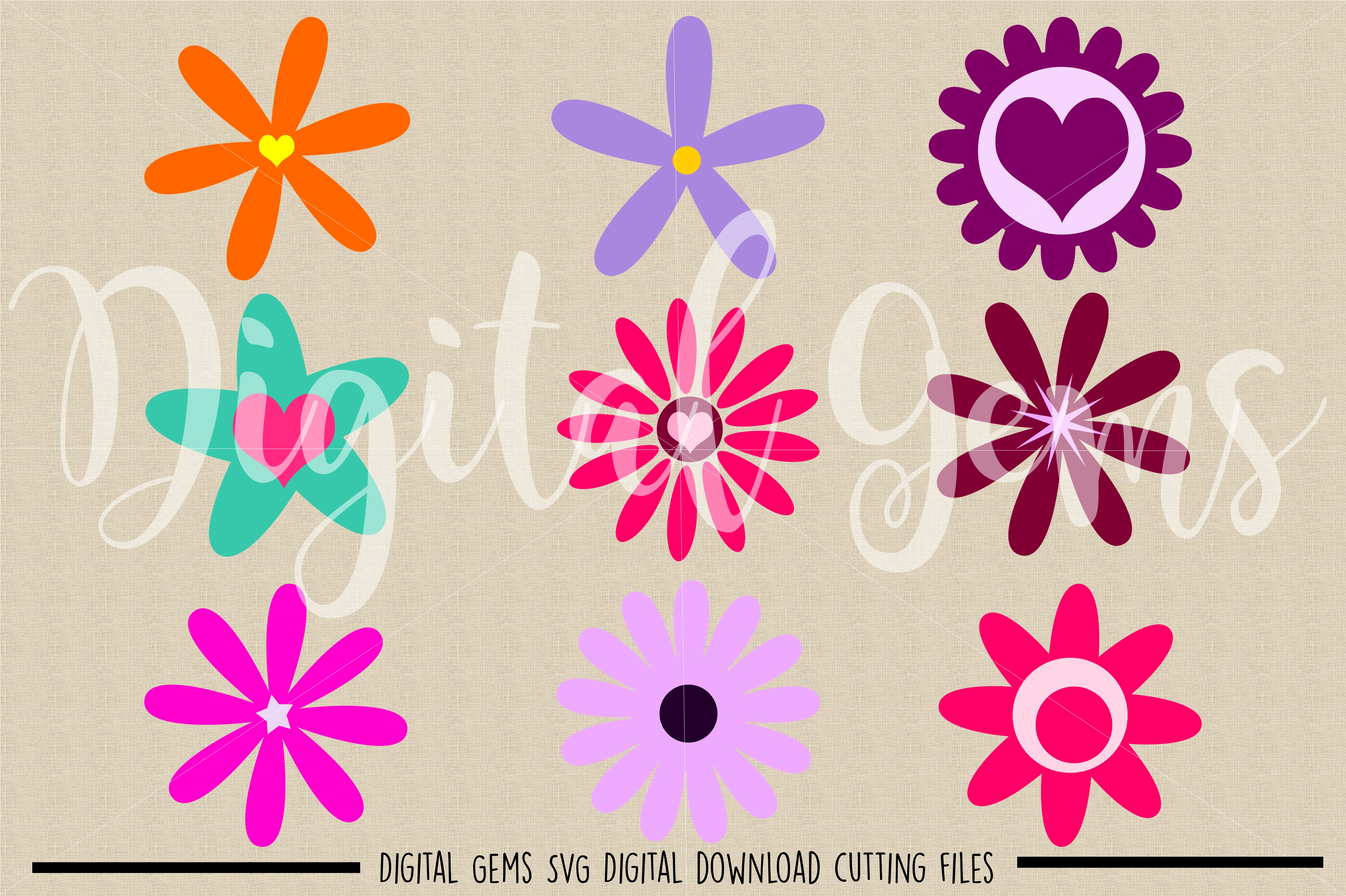 Flowers SVG / DXF / EPS / PNG files example image 2