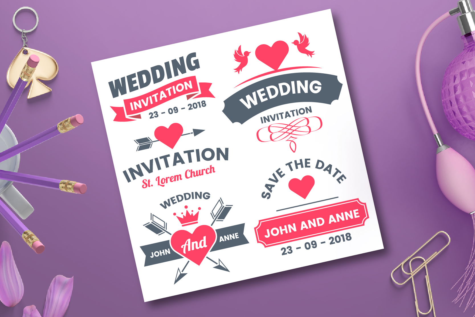43 WEDDING VINTAGE BADGE & RIBBON example image 3