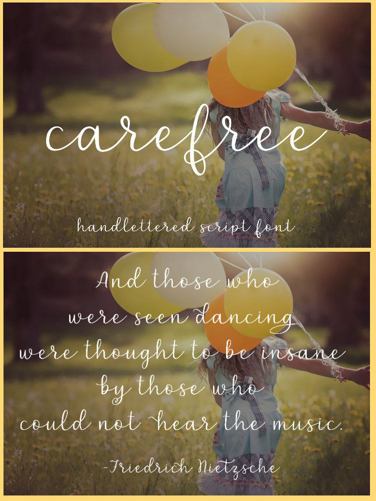 Carefree - A handlettered script font example image 7