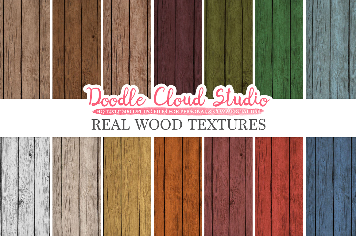 Real Wood digital paper, Vintage Colors, Wood Printables, Wood Backgrounds, Rustic Wood textures, Instant Download, Commercial Use example image 1