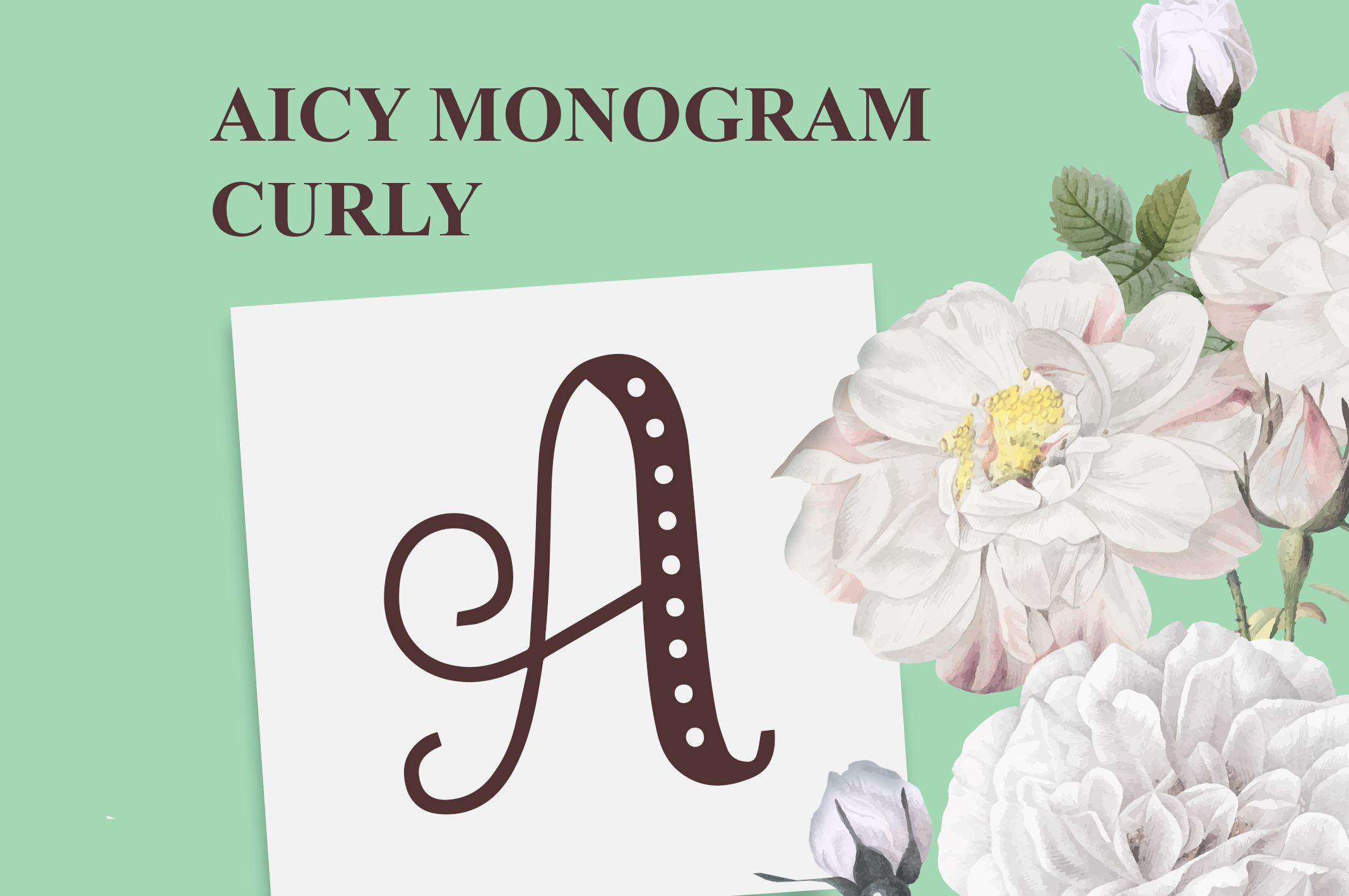 AICY Monogram Curly example image 1