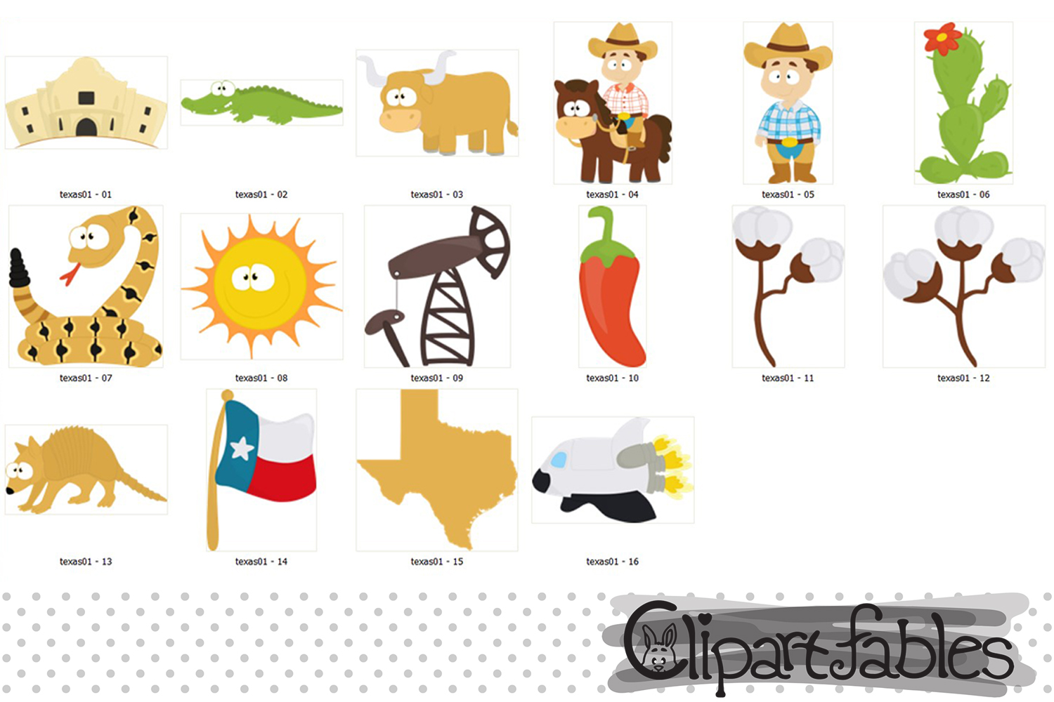 TEXAS State clipart, Cute Texas graphic, Texas map - INSTANT example image 2