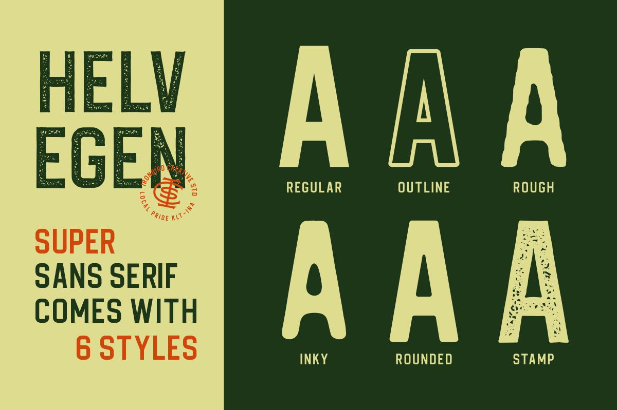 Helvegen Super Sans example image 3