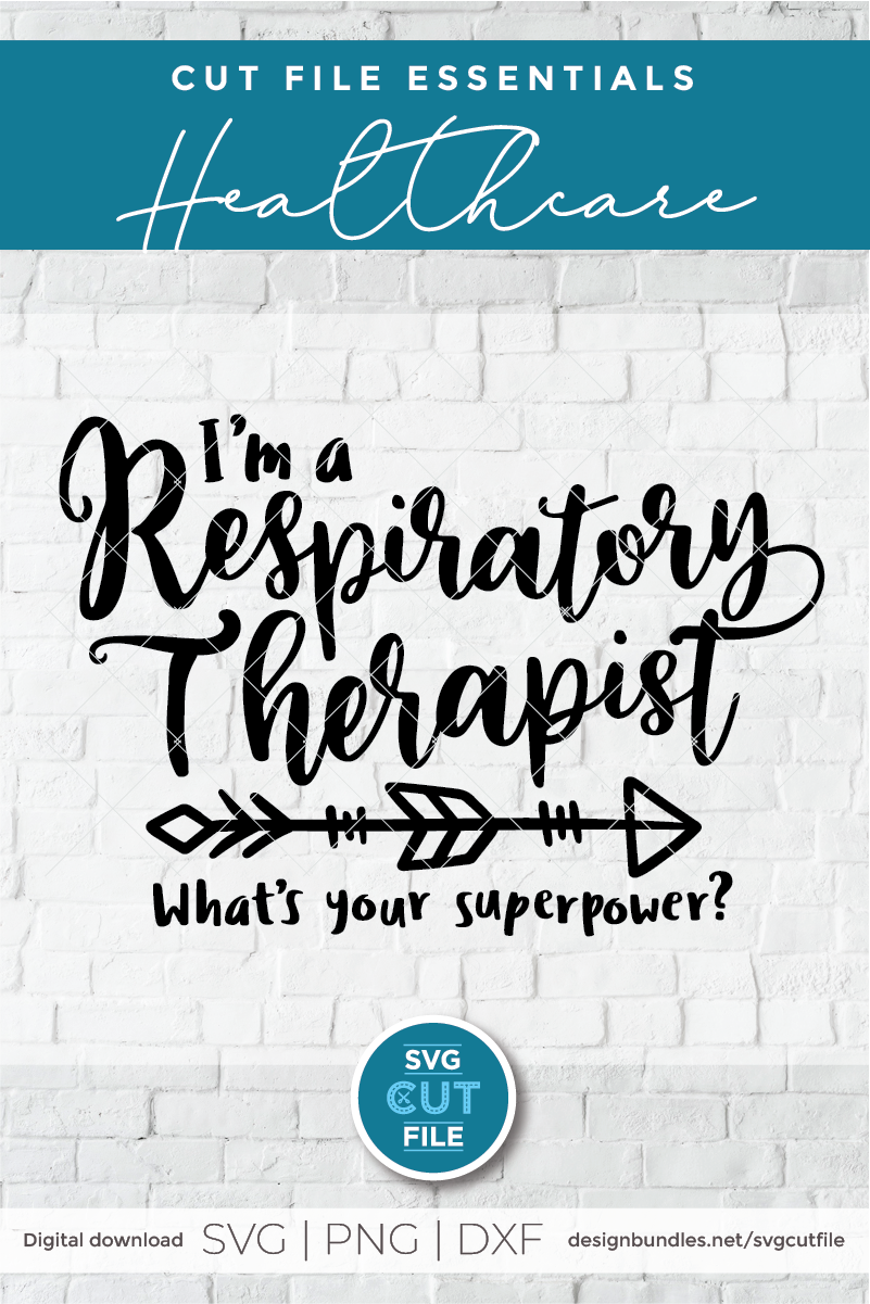 Respiratory therapist svg, RT svg, breath svg for cricut example image 2