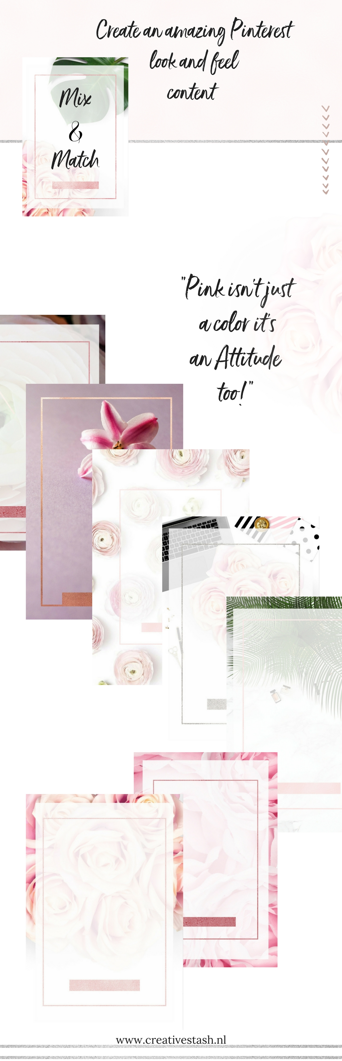 Pinterest templates- Pink passion example image 4
