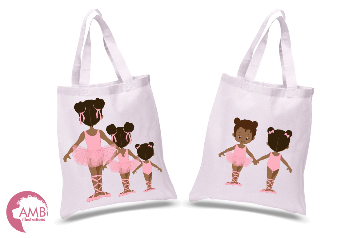 Ballerina sisters, ballerina friends, ballet clipart, graphics and illustrations AMB-2264 example image 2
