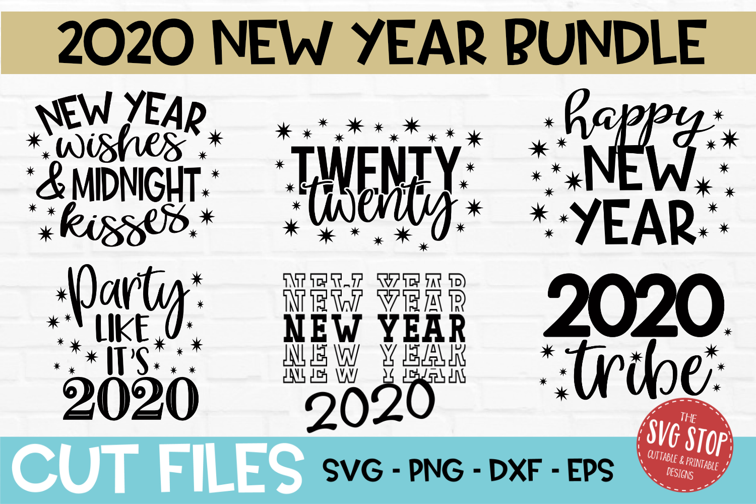 New Year Bundle SVG, PNG, DXF, EPS example image 1