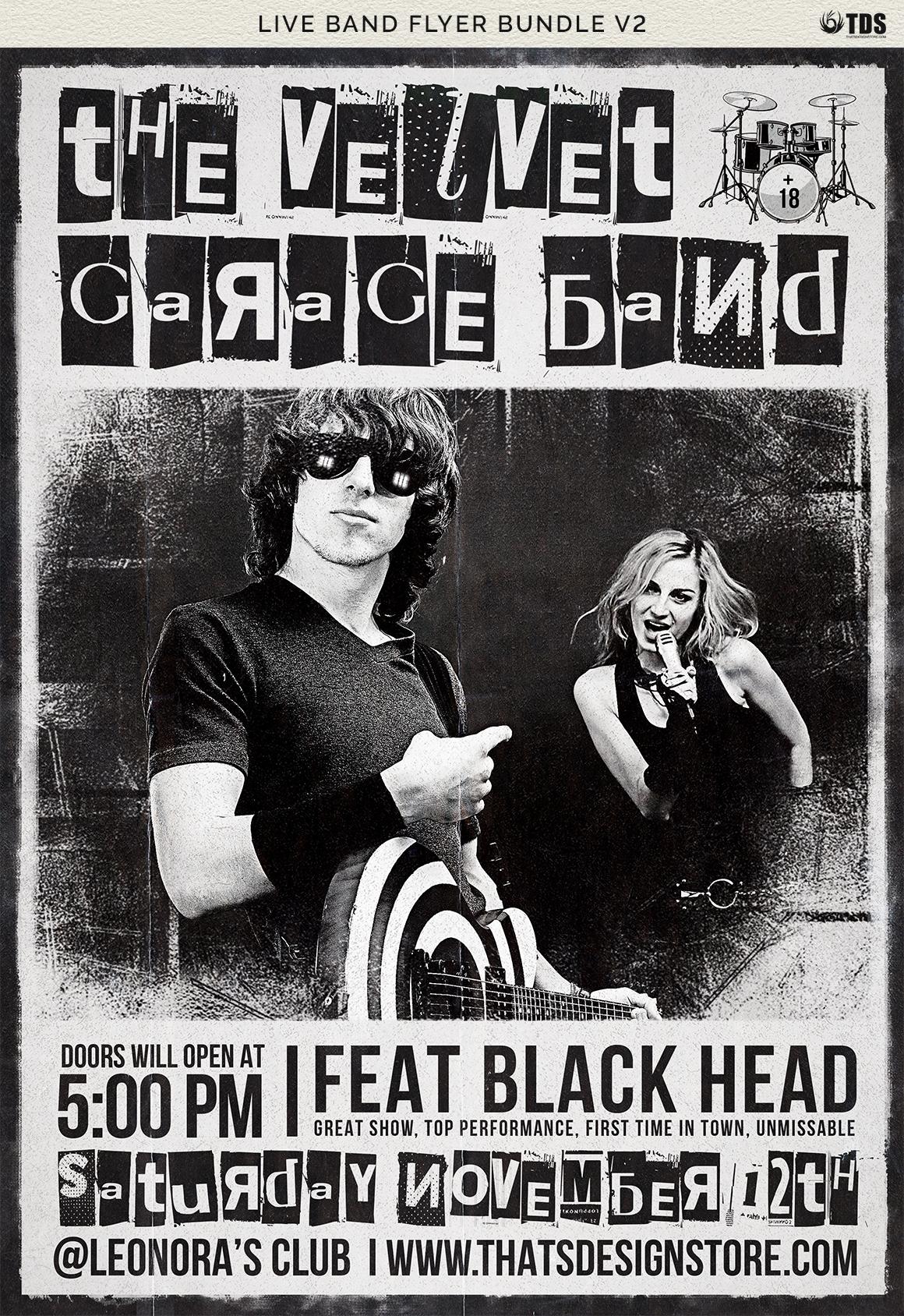 Live Band Flyer Bundle V2 example image 13