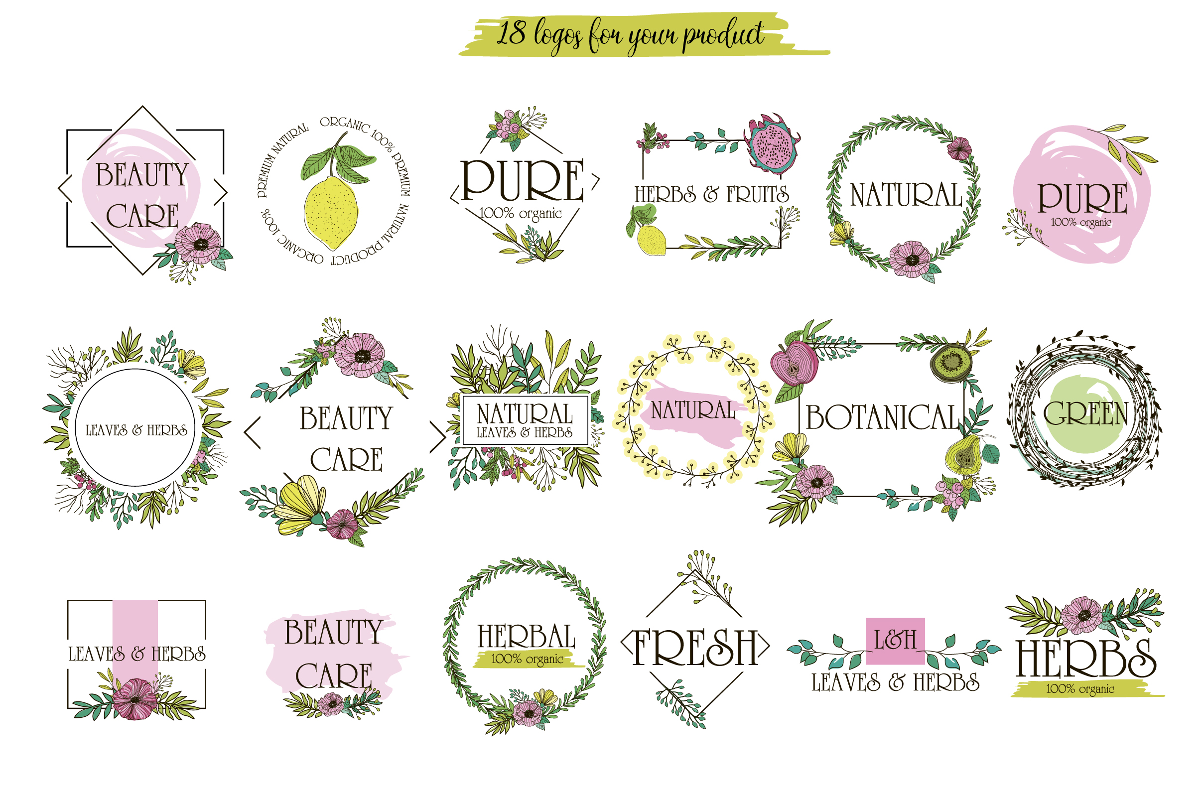 Botanical logos & illustrations example image 6