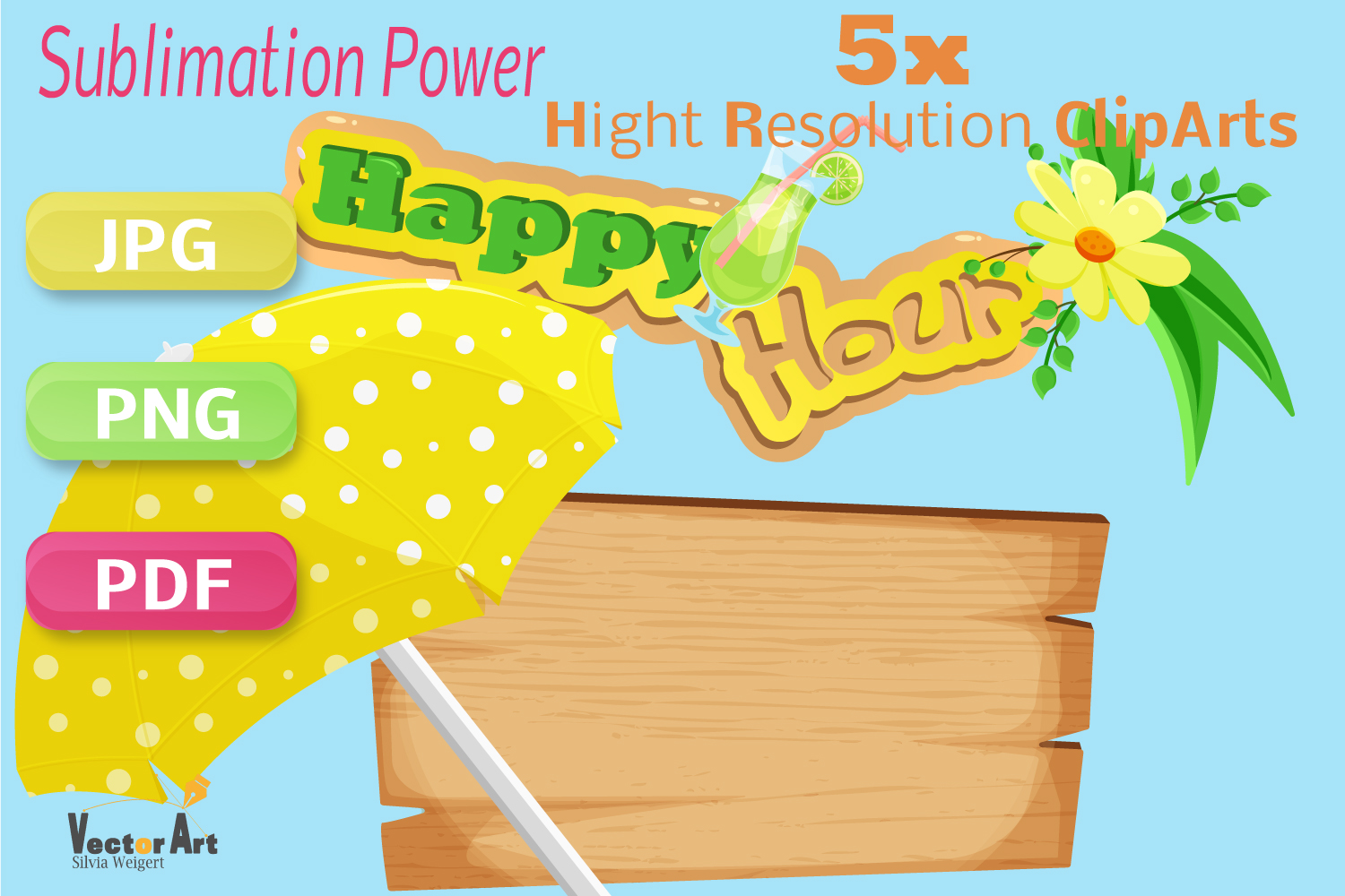 Happy Hour - Craft Bundle for Sublimation and Scrapbooking example image 2