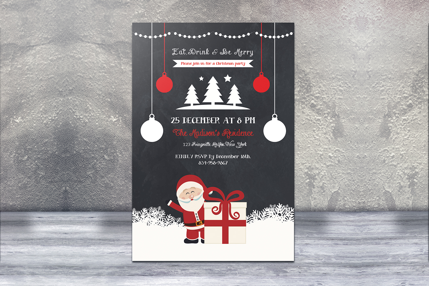 Christmas Holiday Party Flyer example image 2